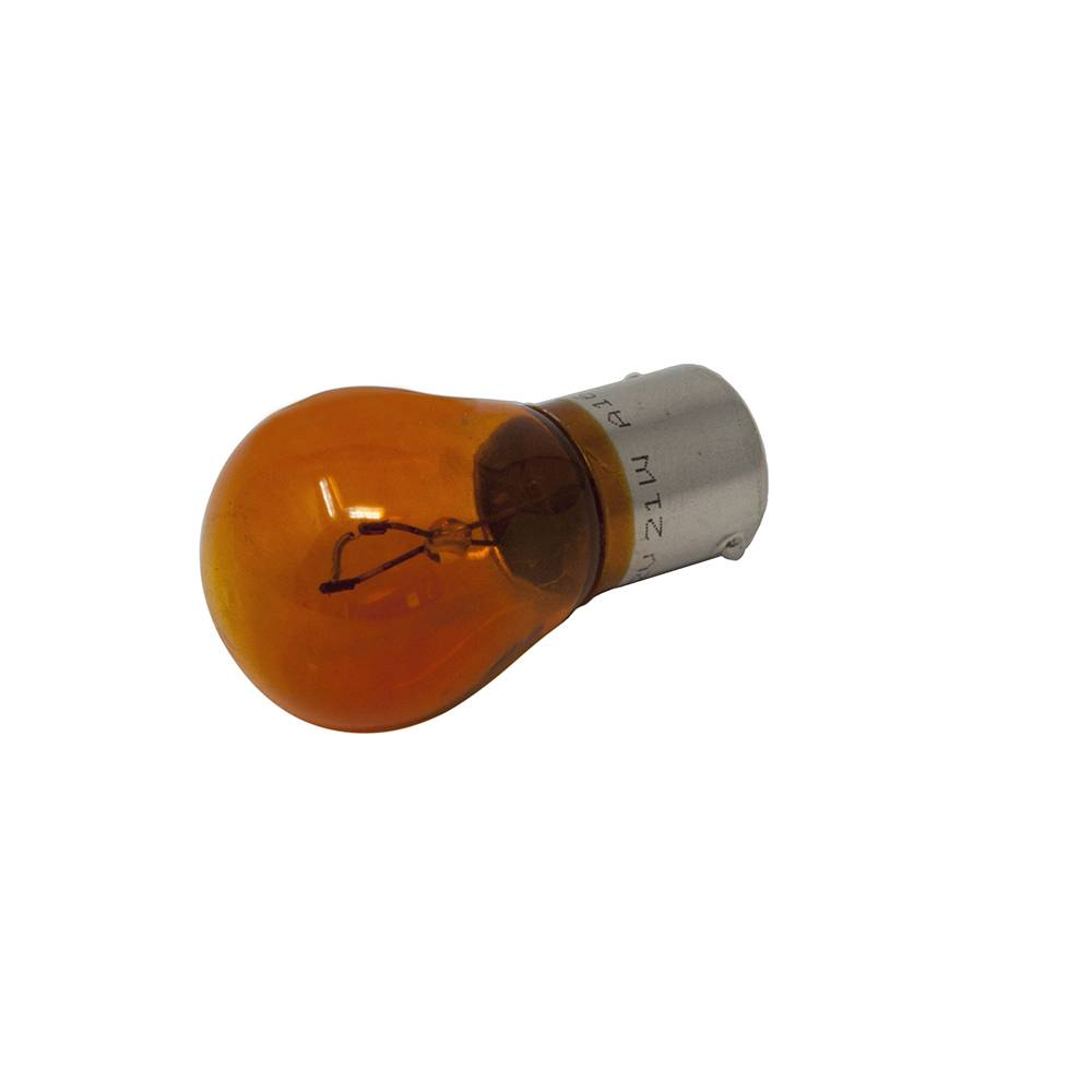 LAMPE 12V 21W (BROCHES DECALEES) - ORANGE
