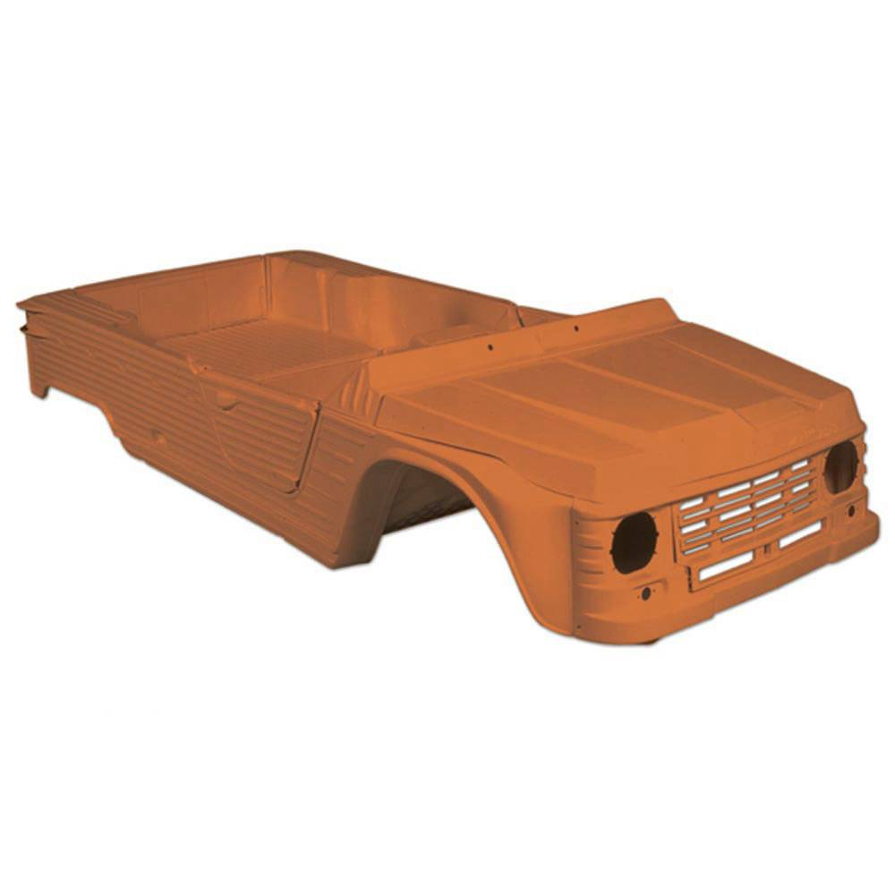 CARROSSERIE COMPLETE PLANCHE BORD ANCIEN MODELE 4 PLACES ORANGE KIRGH