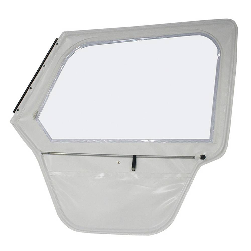 RIGHT DOOR WITH ROLL DOWN WINDOW ALUMINIUM WINDSCREEN FRAME - WHITE