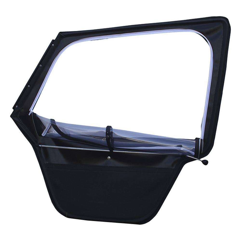 RIGHT DOOR WITH ROLL DOWN WINDOW ALUMINIUM WINDSCREEN FRAME - BLACK