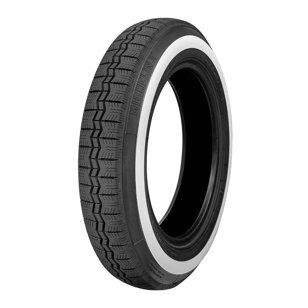 Michelin tire 125 R 15 X WHITE SIDE BAND