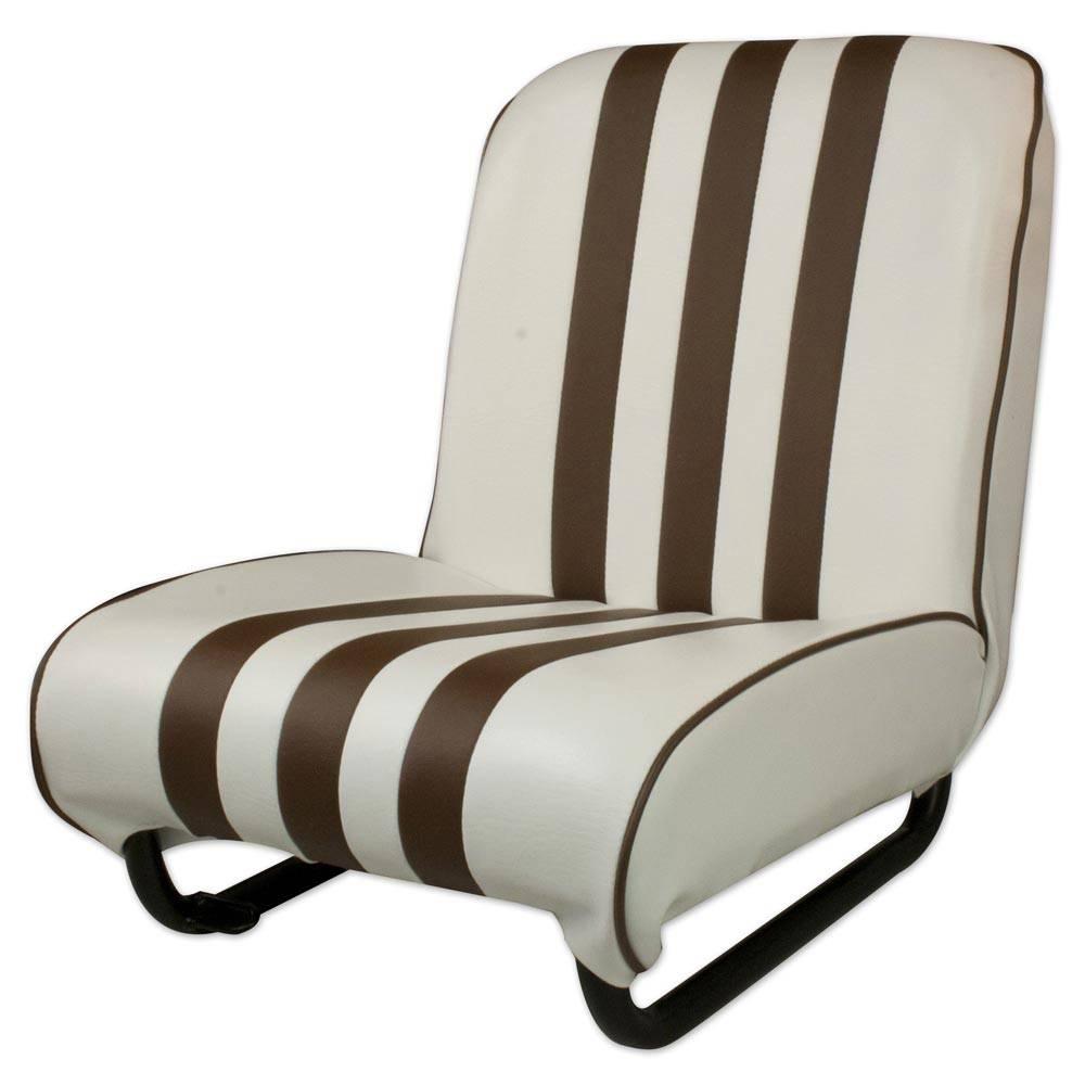 vente siege avant gauche mehari blanc marron mehari club cassis. Black Bedroom Furniture Sets. Home Design Ideas