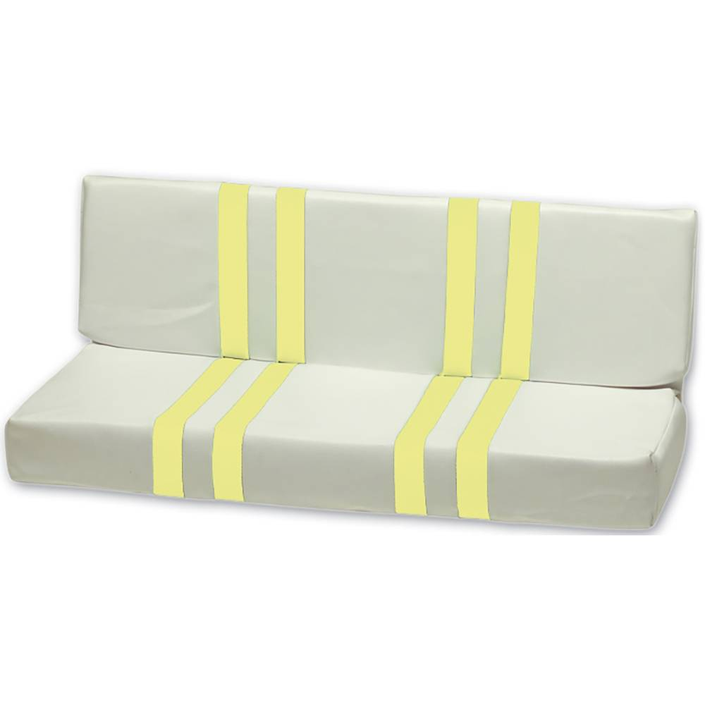 MEHARI REAR SEAT – YELLOW AND WHITE