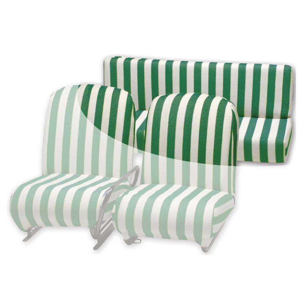 MEHARI REAR TOWEL SEAT COVER - GREEN AND WHITE