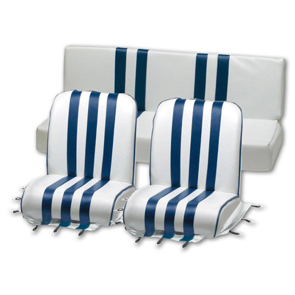 MEHARI SEAT COVER SET -  BLUE AND WHITE