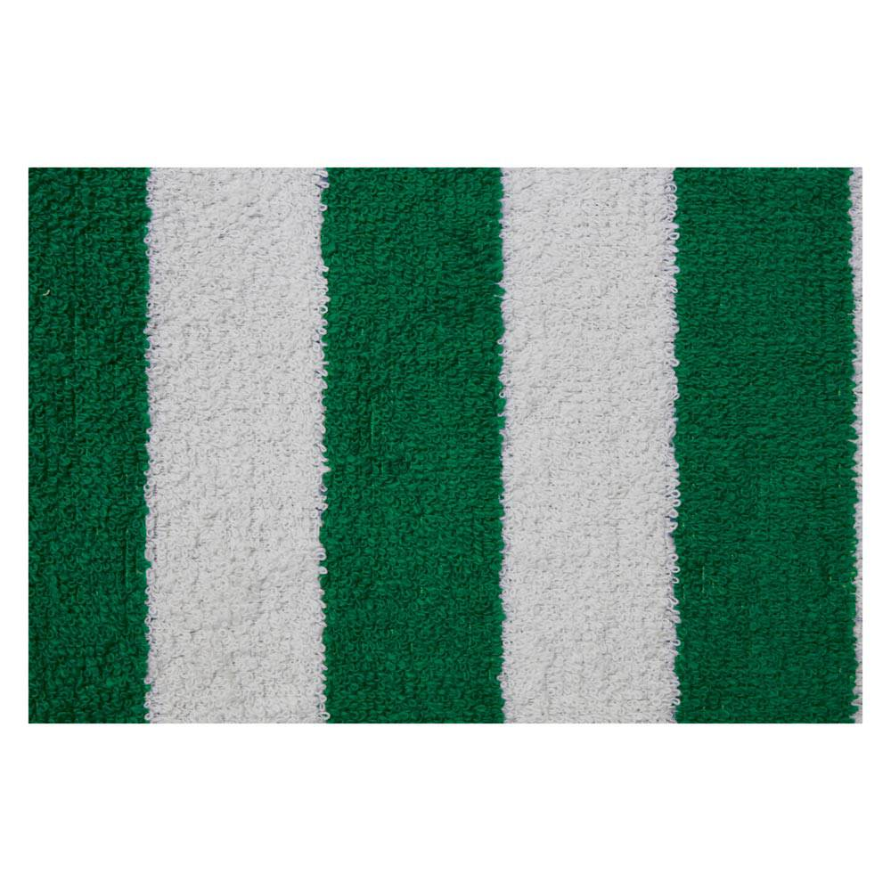 MEHARI FRONT TOWEL SEAT COVERS - GREEN AND WHITE (2 PIECES)