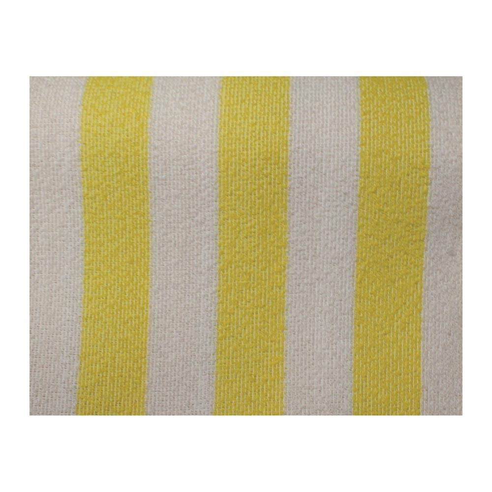 MEHARI FRONT TOWEL SEAT COVERS - YELLOW AND WHITE (2 PIECES)