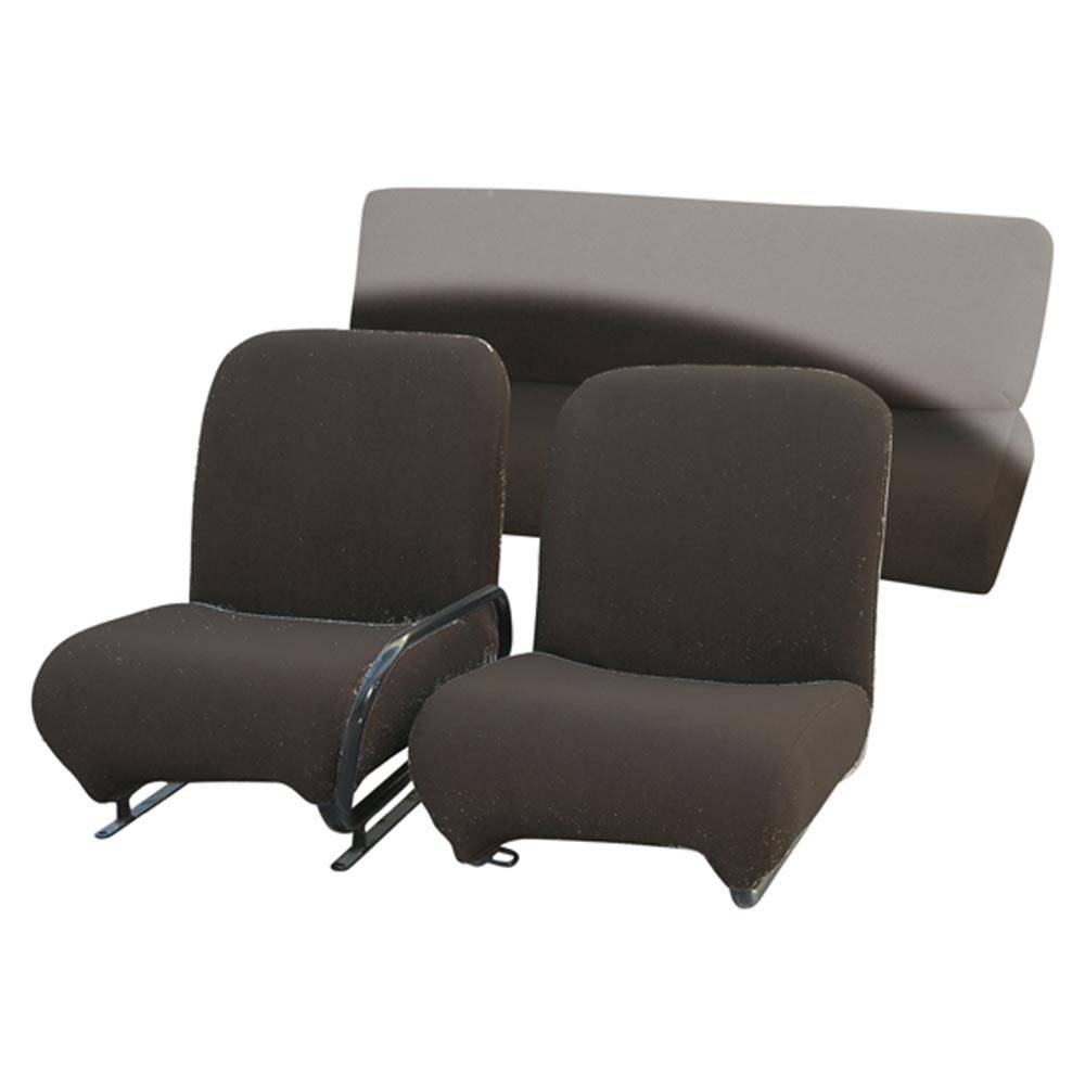 MEHARI FRONT TOWEL SEAT COVERS - BLACK (2 PIECES)