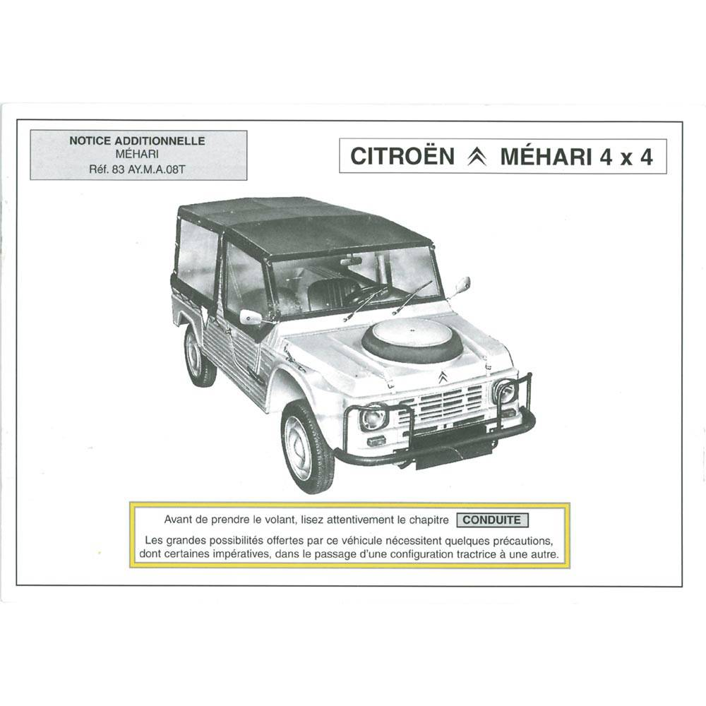 NOTICE ADDITIONNELLE MEHARI 4X4
