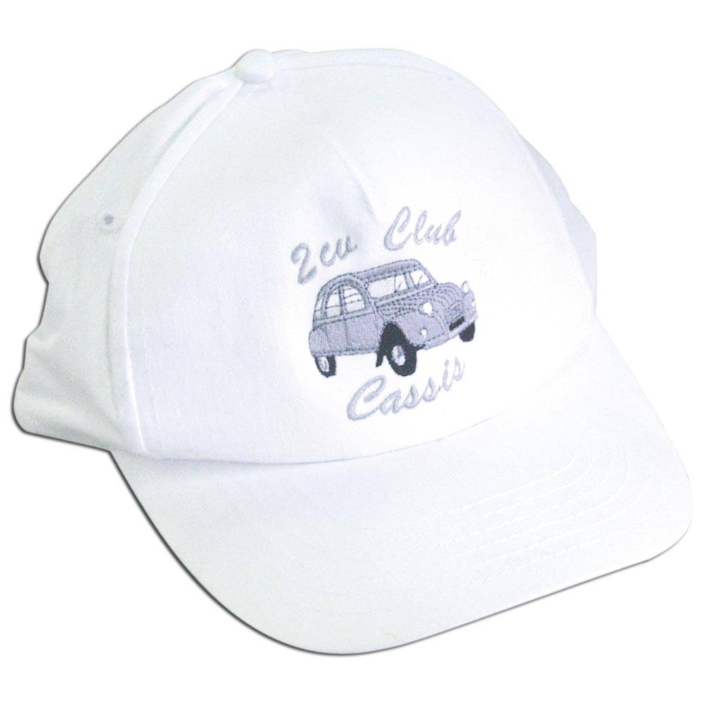 "CASQUETTE BLANCHE BRODEE ""2CV Club Cassis"""