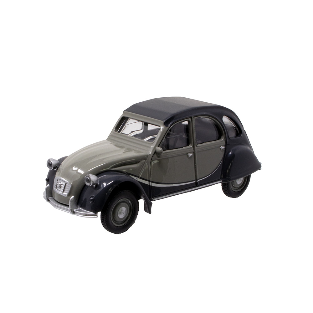 Citroen miniatura 2CV Charleston gris y negro