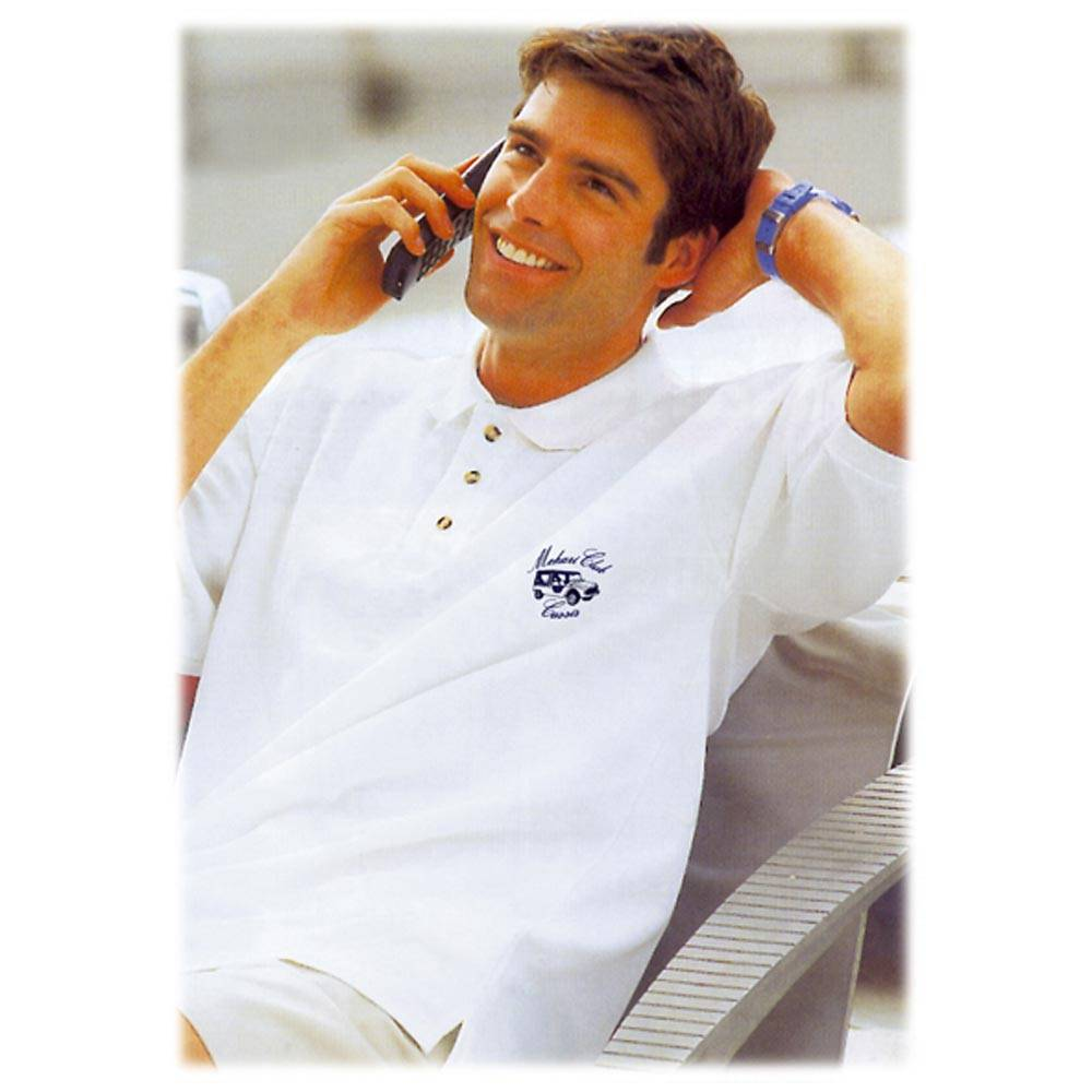 POLO BRODE MEHARI 230 Gr BLANC TAILLE XL