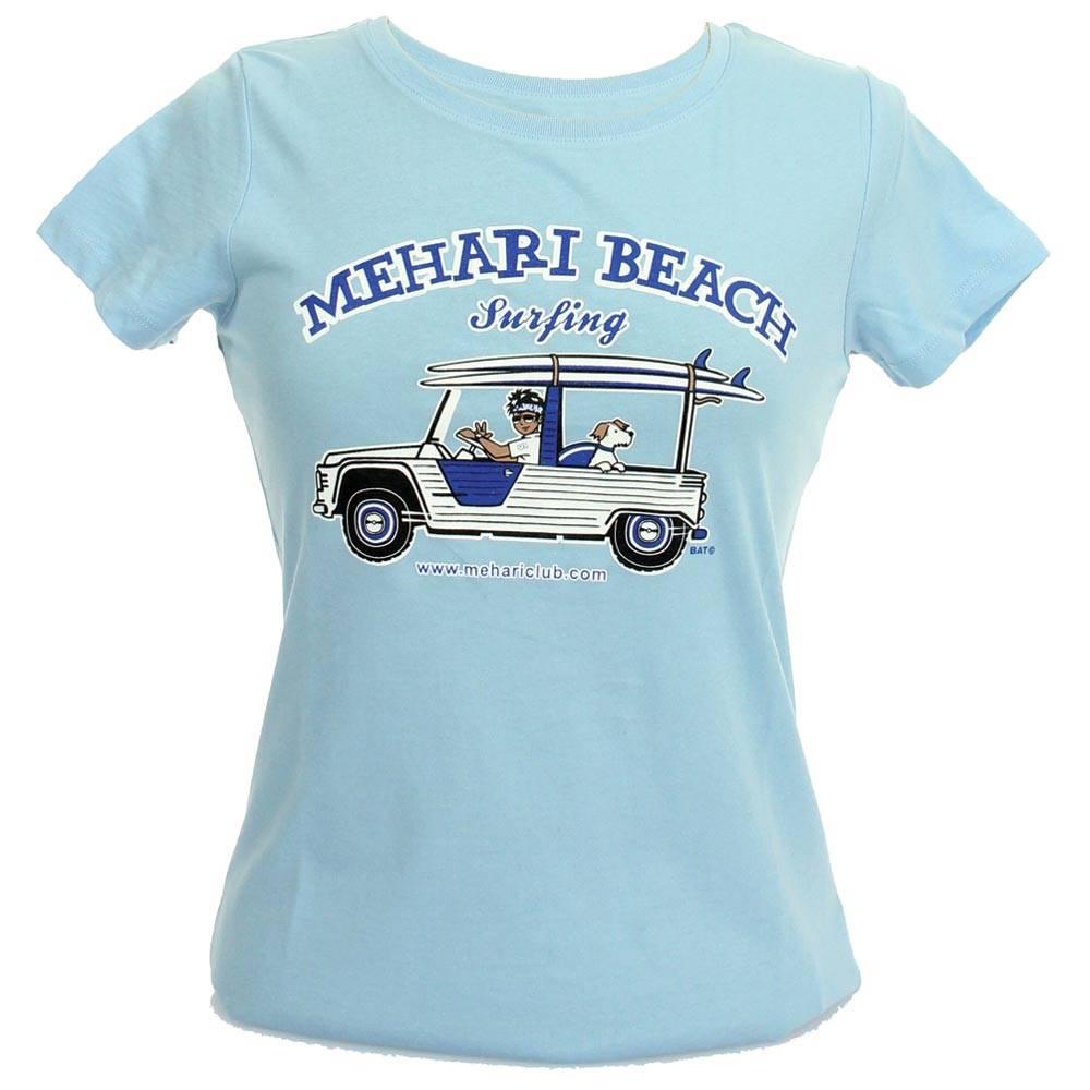 vente t shirt femme mehari beach ciel taille s 2cv mehari club cassis. Black Bedroom Furniture Sets. Home Design Ideas