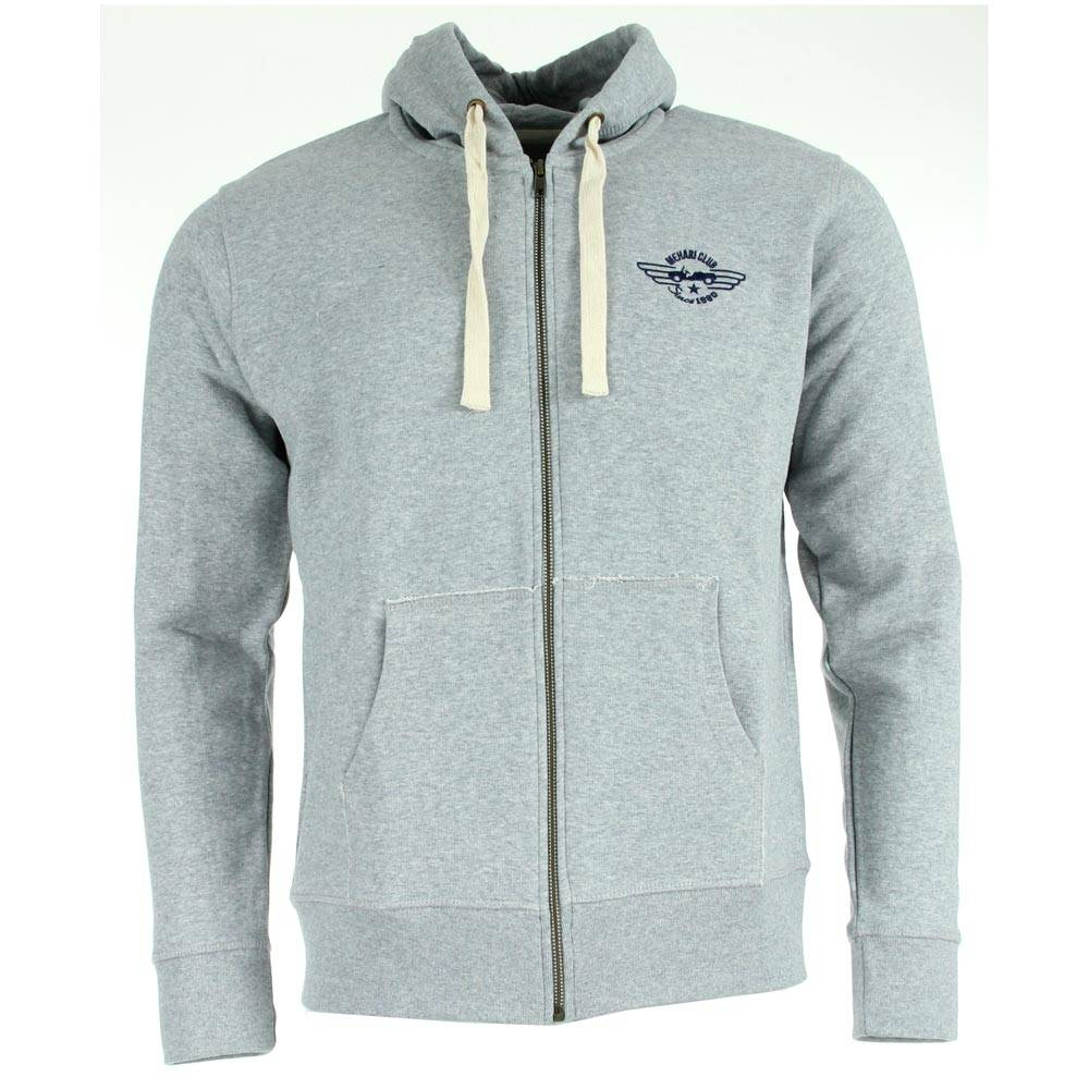 SWEAT ZIPPE HOMME GRIS CHINE TAILLE S