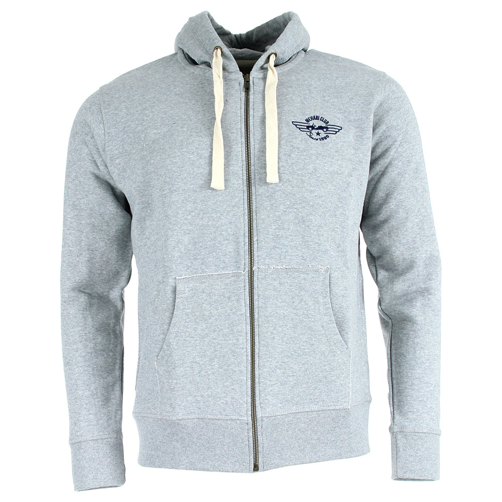 SWEAT ZIPPE HOMME GRIS CHINE TAILLE M