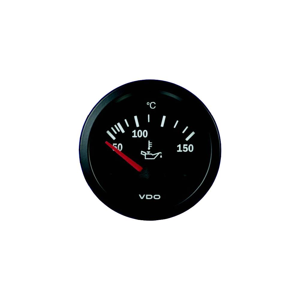 OIL TEMPERATURE GAUGE (52MM) - BLACK