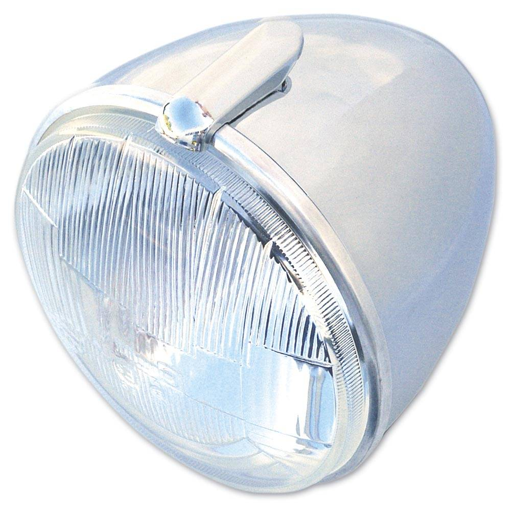 BLOC OPTIQUE ROND 2CV H4 ORIGINE - CHROME
