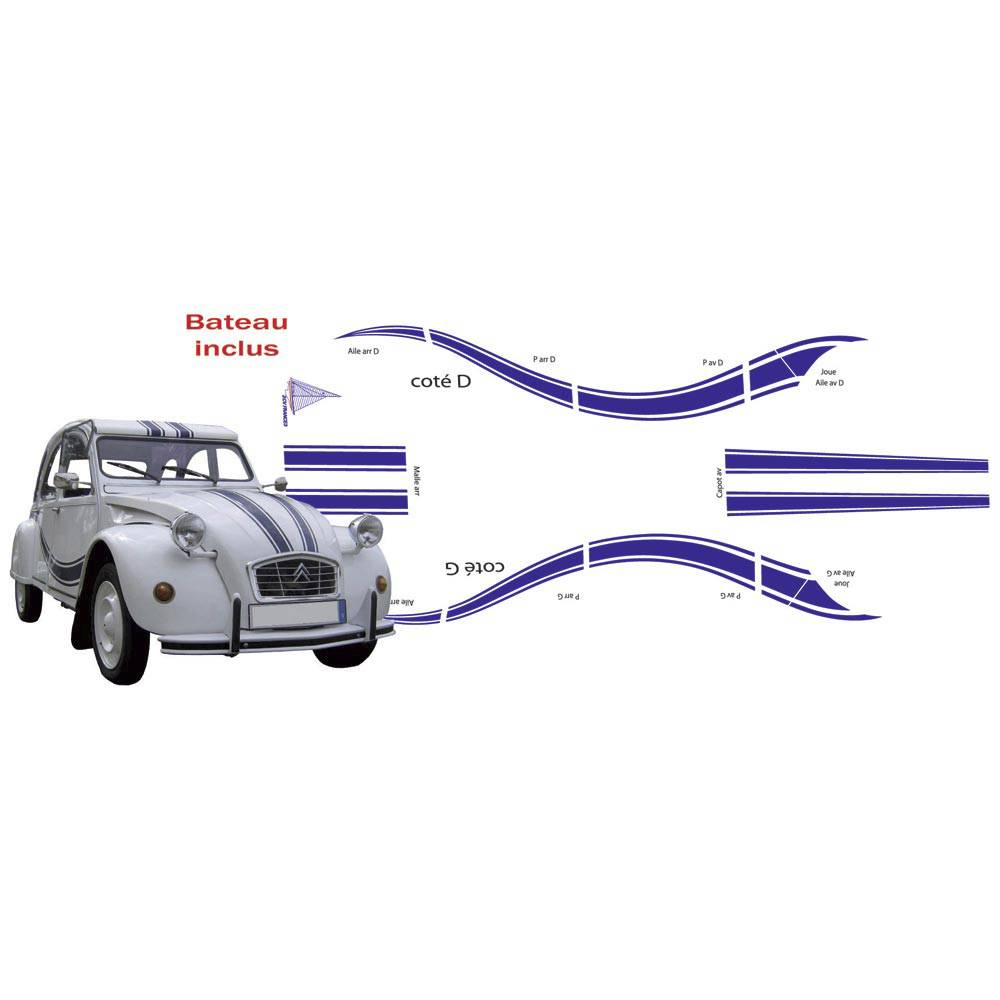 ADHESIFS 2CV FRANCE 3 (collection complete, sauf bateau)