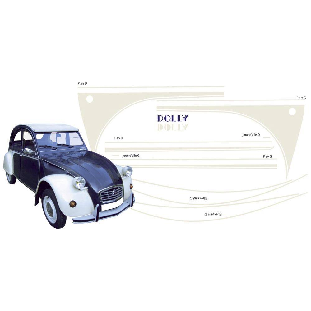 ADHESIFS 2CV DOLLY BLEU NUIT (collection complète)