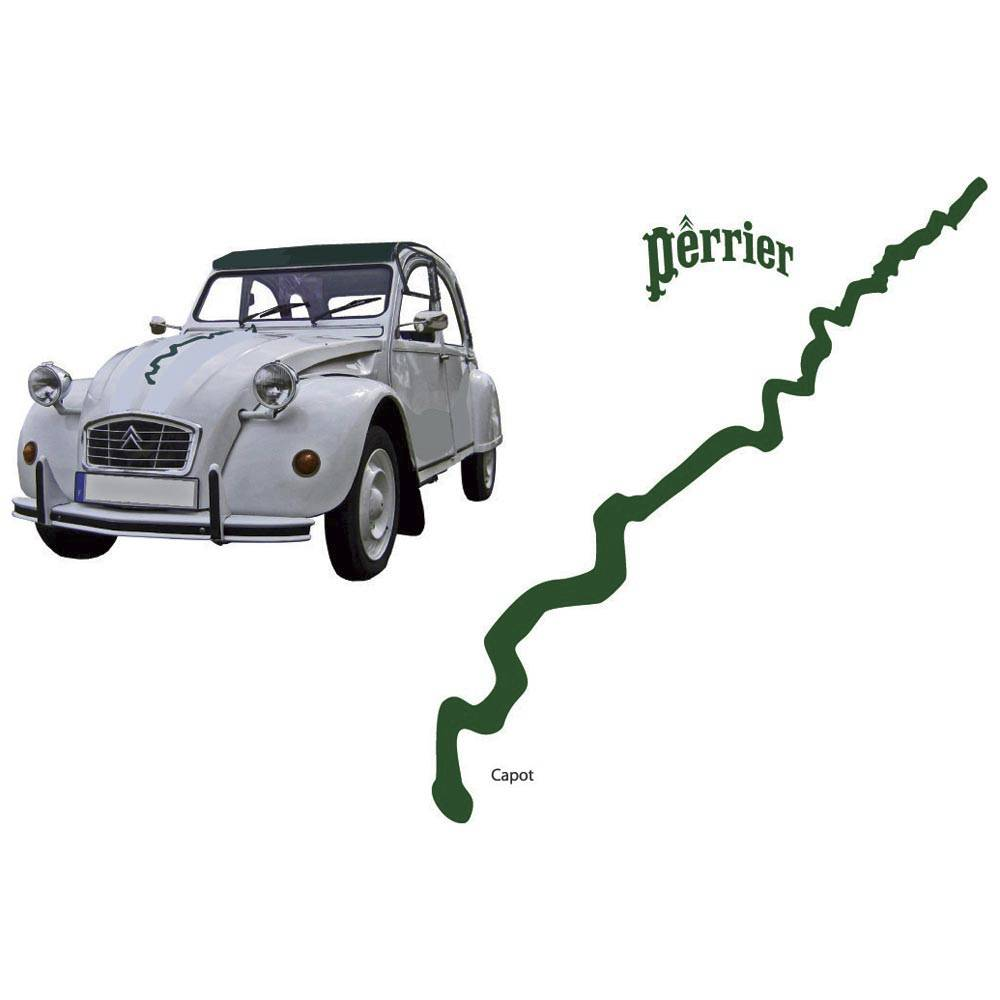 ADHESIF 2CV PERRIER (collection complète)