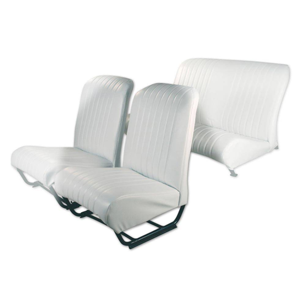 2CV/DYANE FRONT LEFT SEAT COVER WITH SIDES – POLAR WHITE