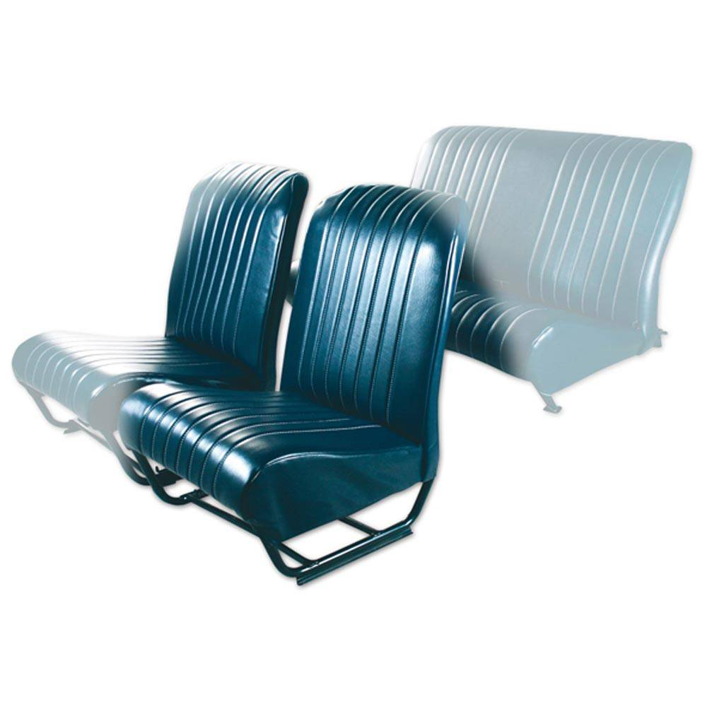 2CV/DYANE FRONT LEFT SEAT COVER WITH SIDES – ABYSSE BLUE SKAI