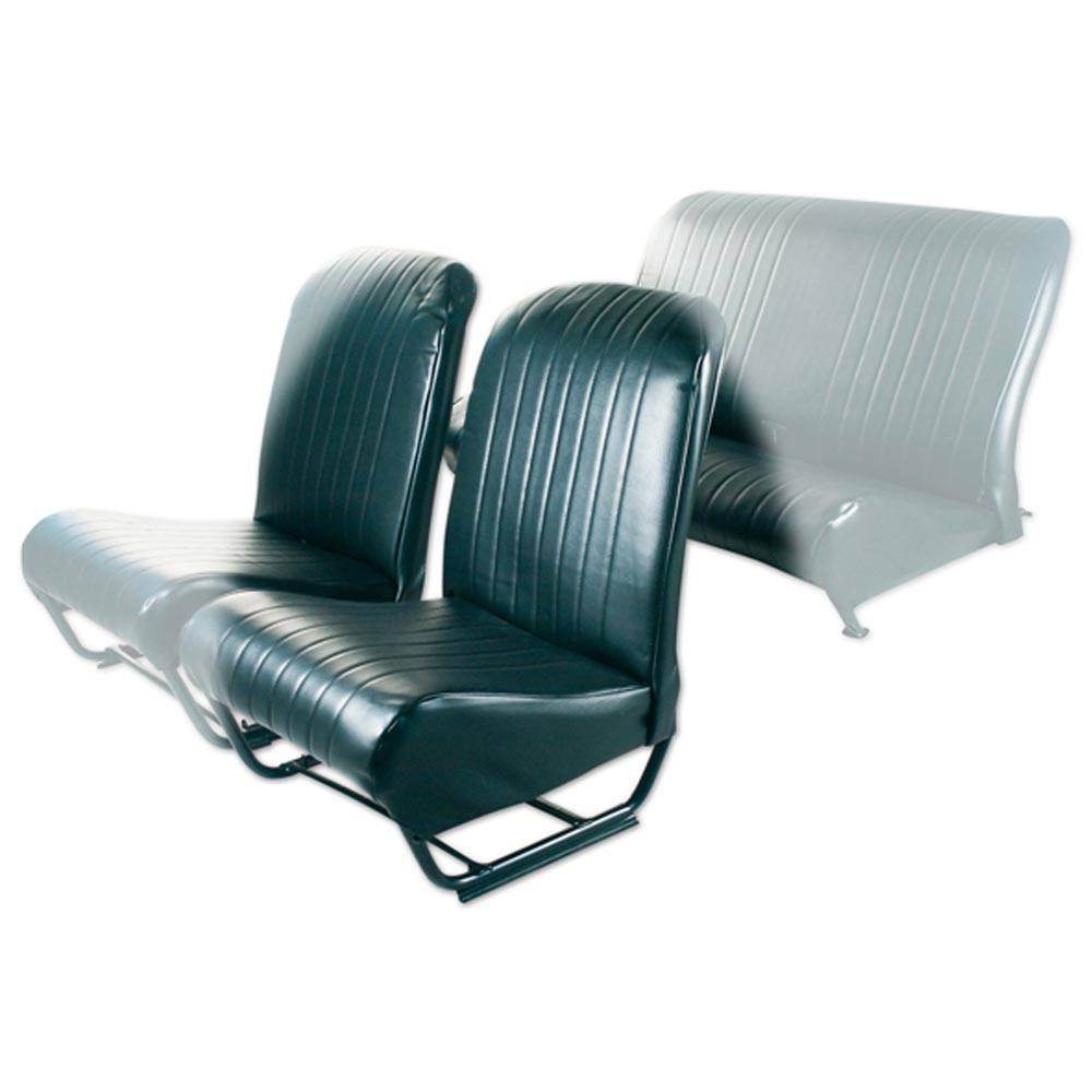 2CV/DYANE FRONT LEFT SEAT COVER WITH SIDES – BLACK SKAI