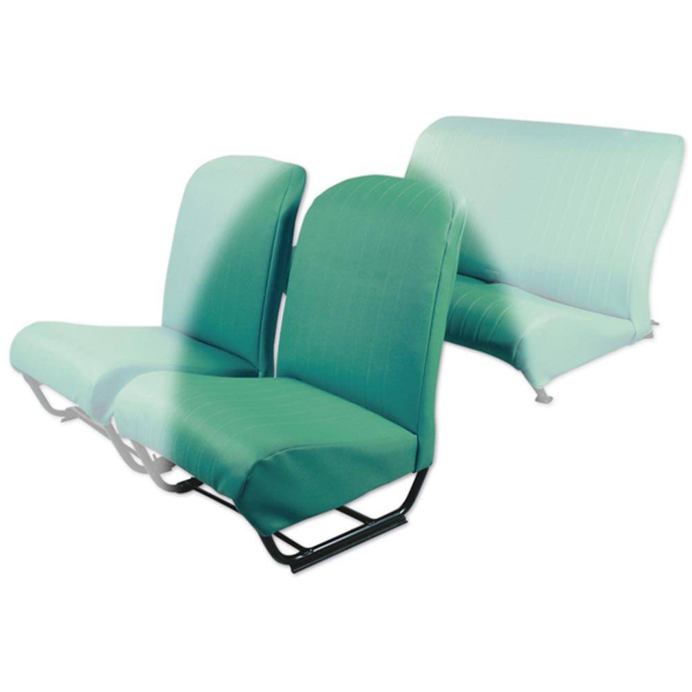 2CV/DYANE FRONT LEFT SEAT COVER WITH SIDES – LAGOON GREEN SKAI
