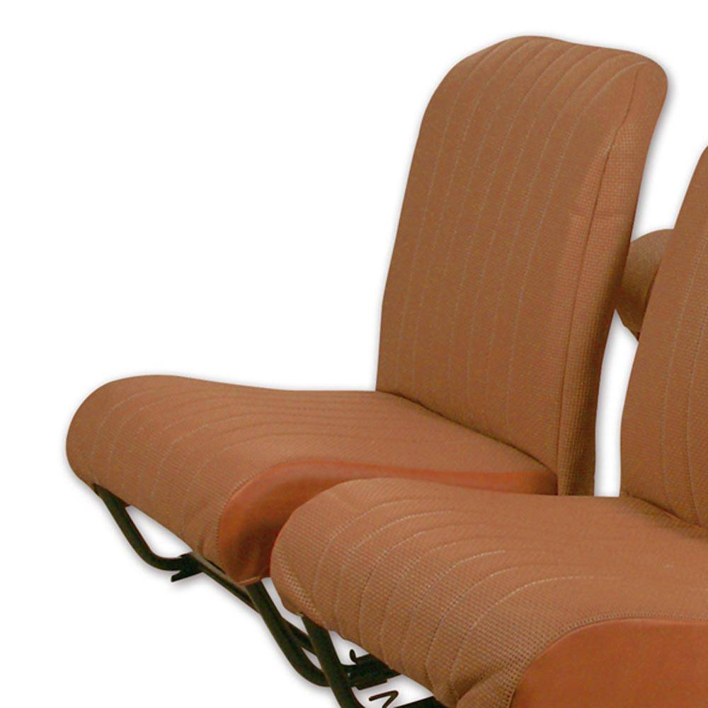 2CV/DYANE FRONT RIGHT SEAT COVER WITH SIDES – PERFORATED BROWN SKAI