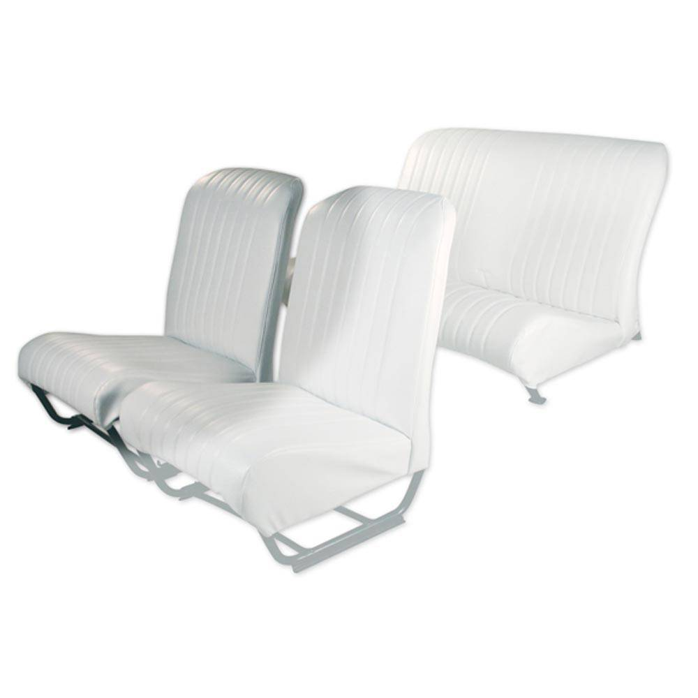 2CV/DYANE FRONT RIGHT SEAT COVER WITH SIDES – POLAR WHITE