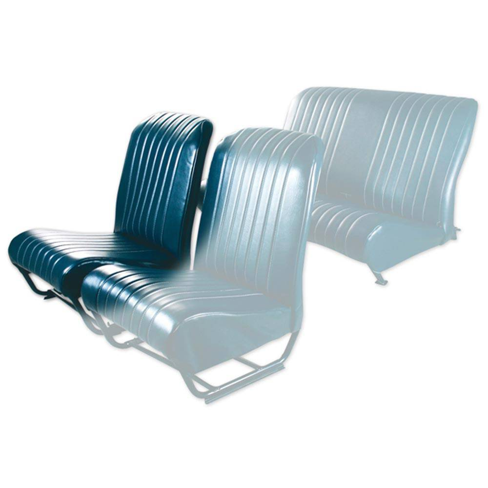 2CV/DYANE FRONT RIGHT SEAT COVER WITH SIDES – ABYSSE BLUE SKAI