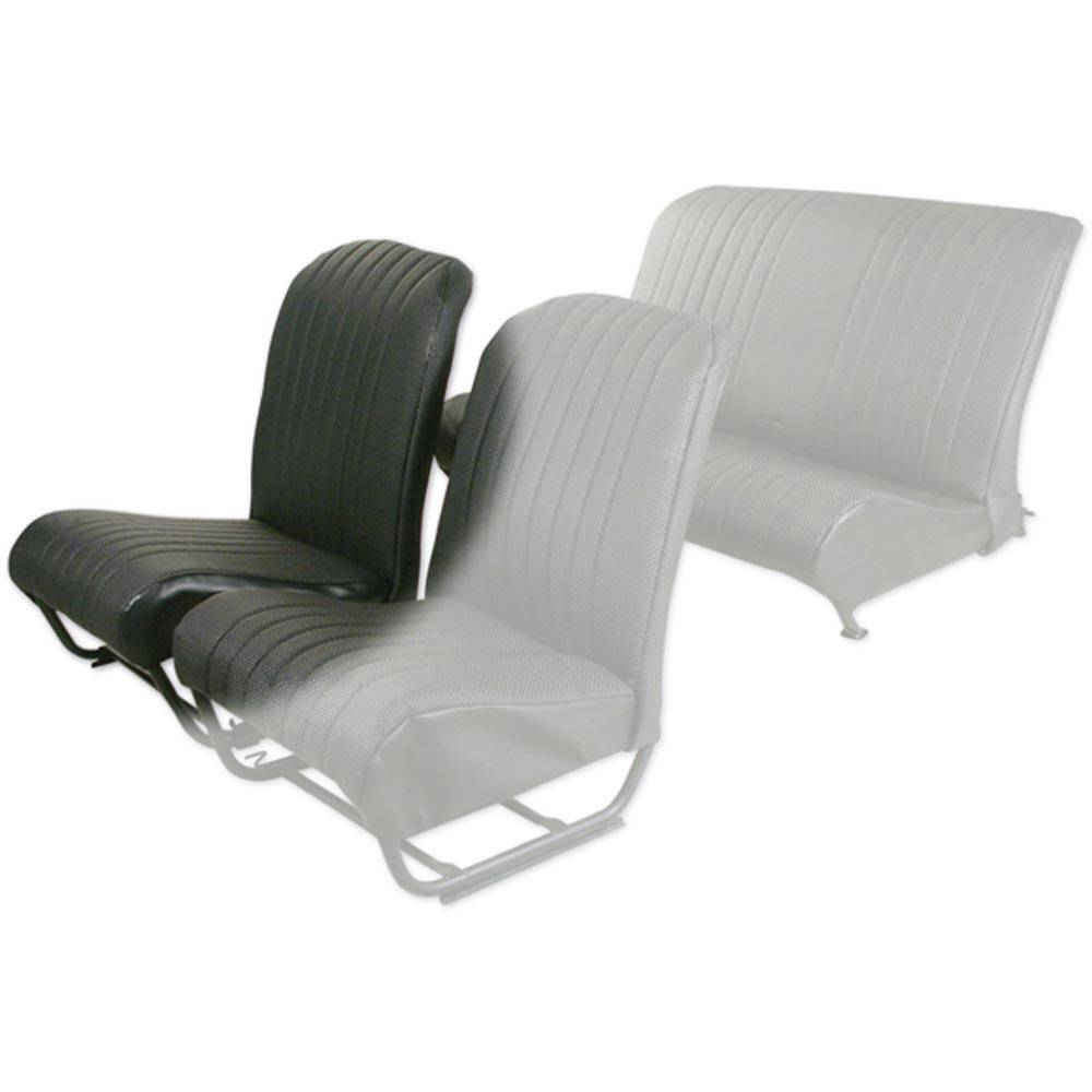 SQUARED INNER CORNER FR SEAT COVER WITH SIDES - PERFORATED BLACK SKAI