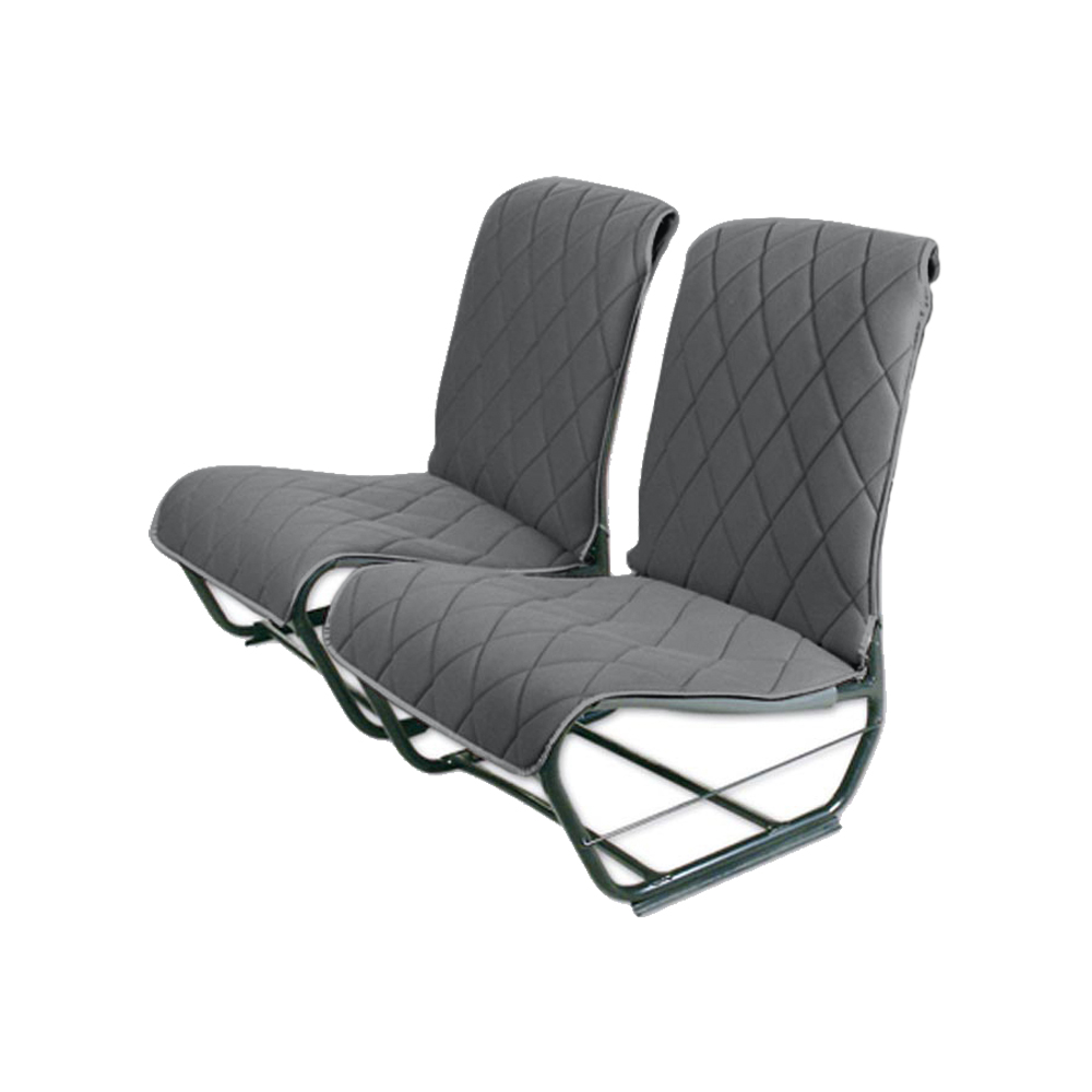 2CV/DYANE FRONT LEFT SEAT COVER WITHOUT SIDES – GREY TISSUE