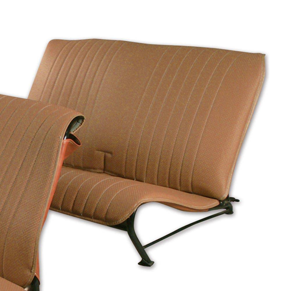2CV/DYANE REAR BENCH SEAT COVER WITHOUT SIDES – PERFORATED BROWN SKAI