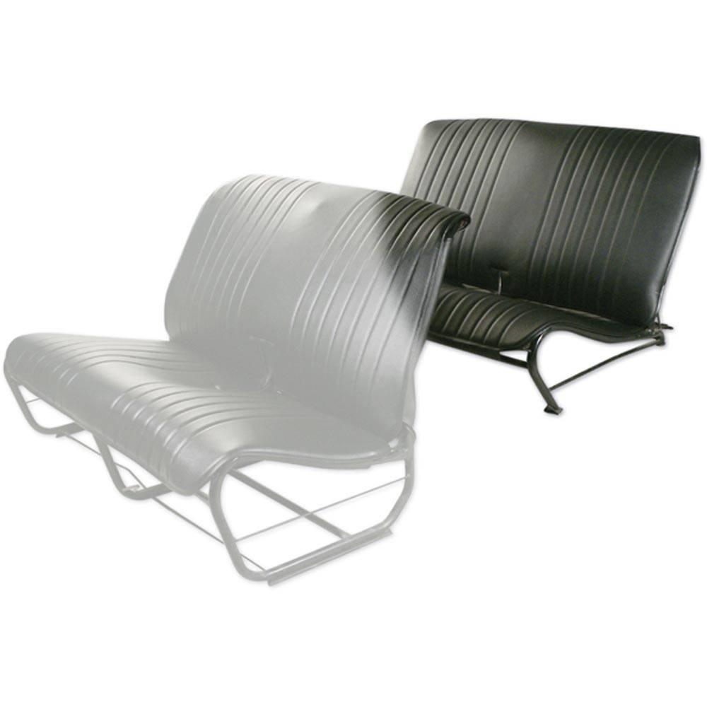 2CV/DYANE REAR BENCH SEAT COVER WITHOUT SIDES – BLACK SKAI