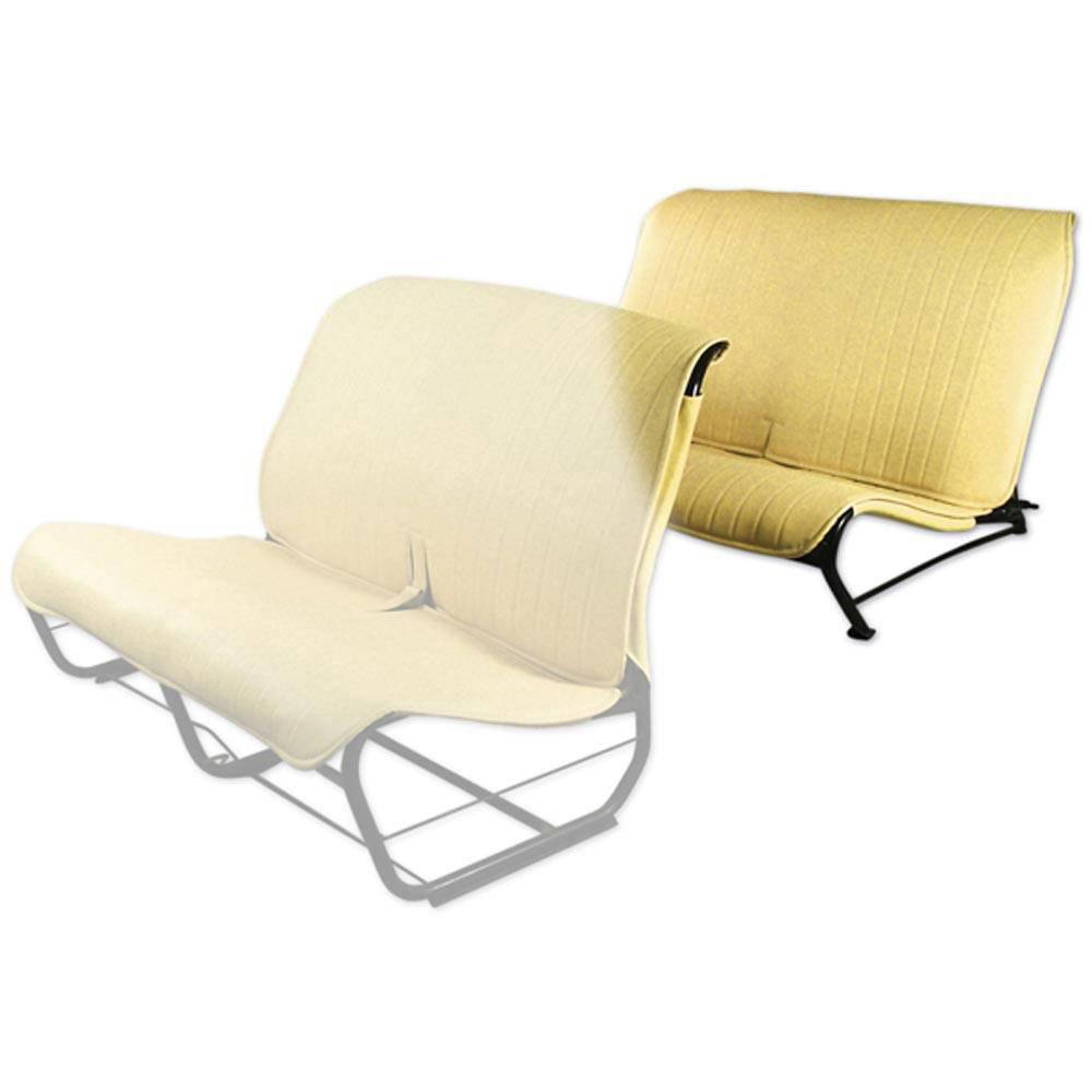 2CV/DYANE REAR BENCH SEAT COVER WITHOUT SIDES – YELLOW SKAI