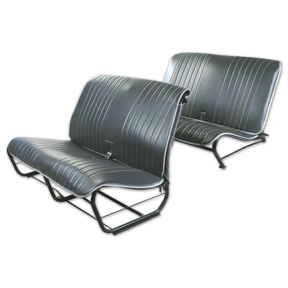 2CV/DYANE UPHOLSTERY SET WITHOUT SIDES - ANTHRACITE GREY SKAI