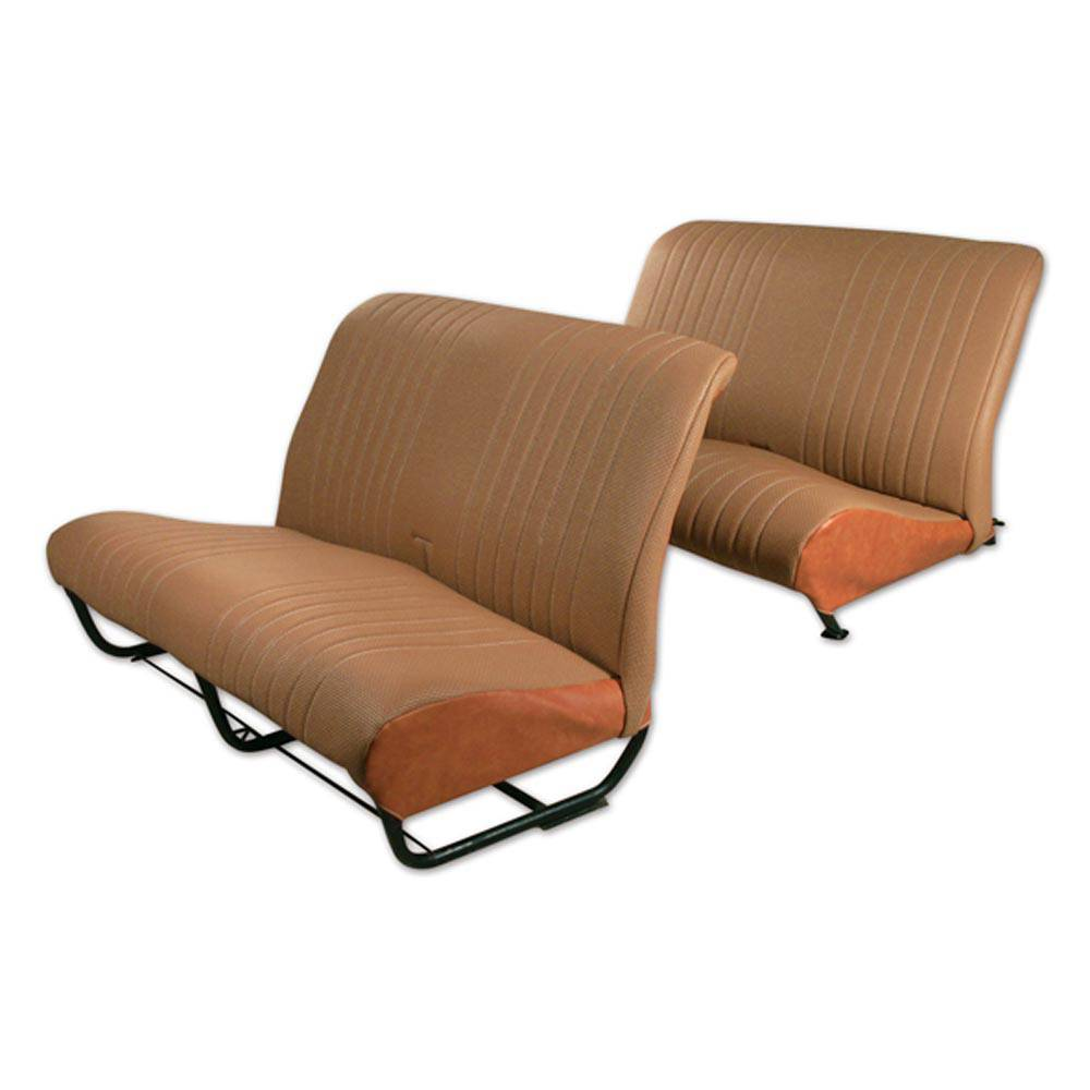 2CV/DYANE BENCH UPHOLSTERY SET WITH SIDES - PERFORATED BROWN SKAI