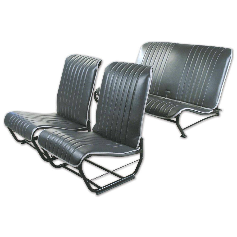 2CV/DYANE UPHOLSTERY SET WITHOUTSIDES – ANTHRACITE GREY SKAI