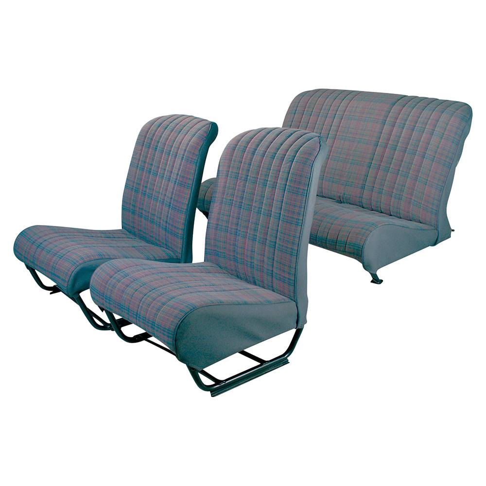 2CV/DYANE UPHOLSTERY SET WITH SIDES – TARTAN TISSUE