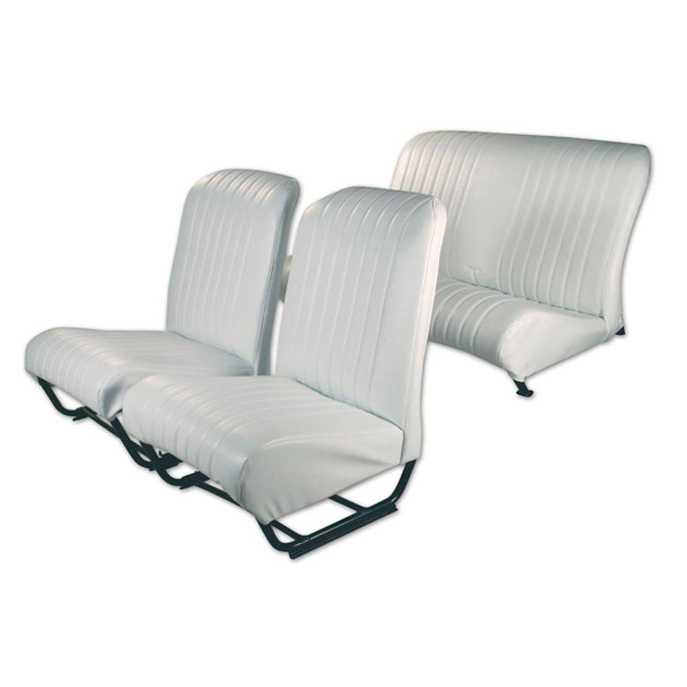 2CV/DYANE UPHOLSTERY SET WITH SIDES – POLAR WHITE