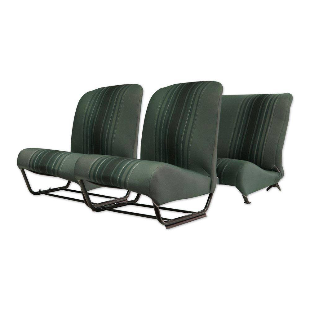 2CV/DYANE UPHOLSTERY SET WITH SIDES – GREEN RAYE