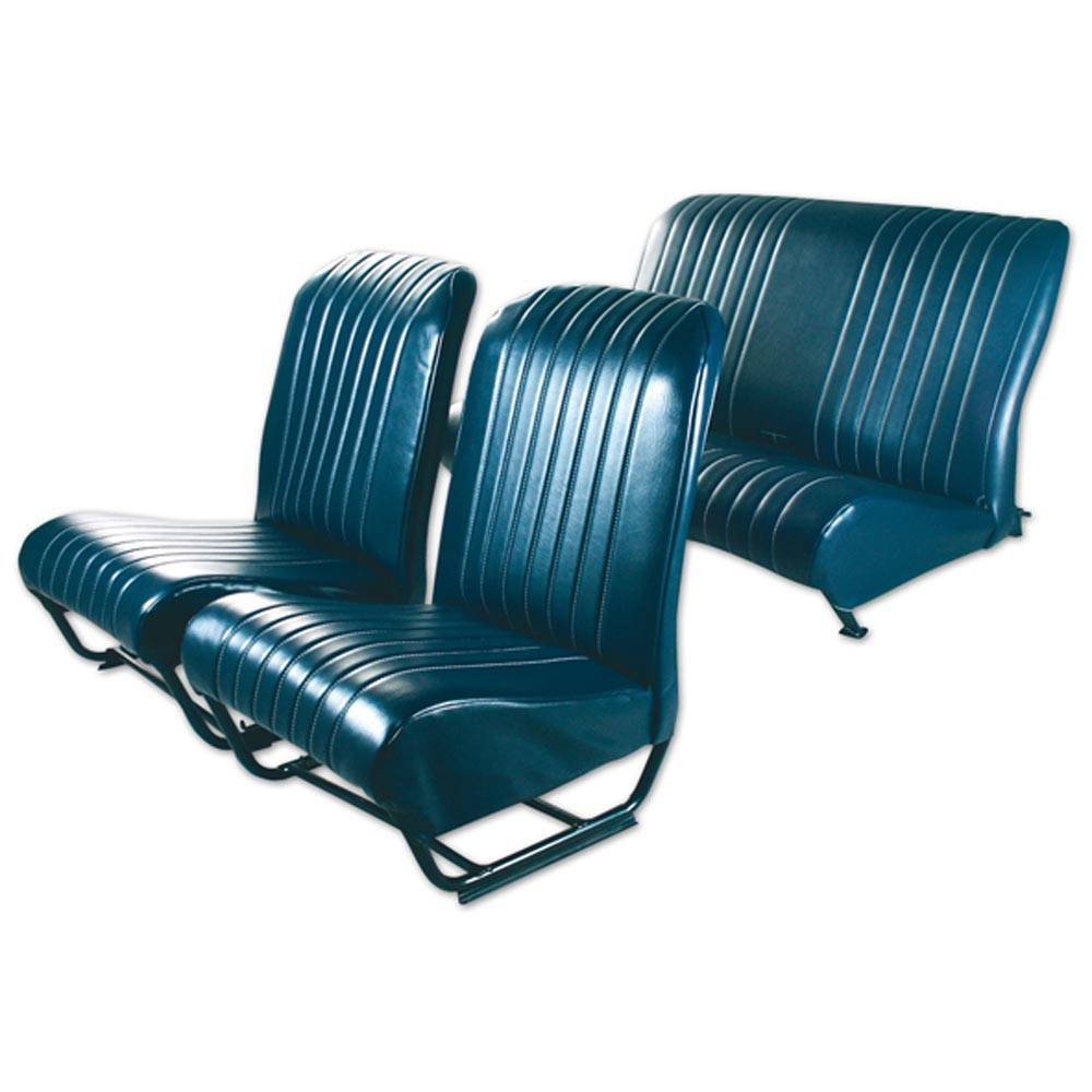 2CV/DYANE UPHOLSTERY SET WITH SIDES – ABYSSE BLUE
