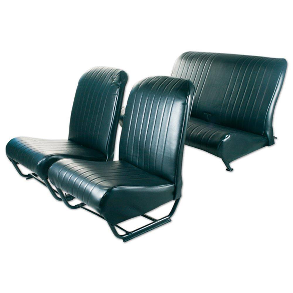 2CV/DYANE UPHOLSTERY SET WITH SIDES – BLACK