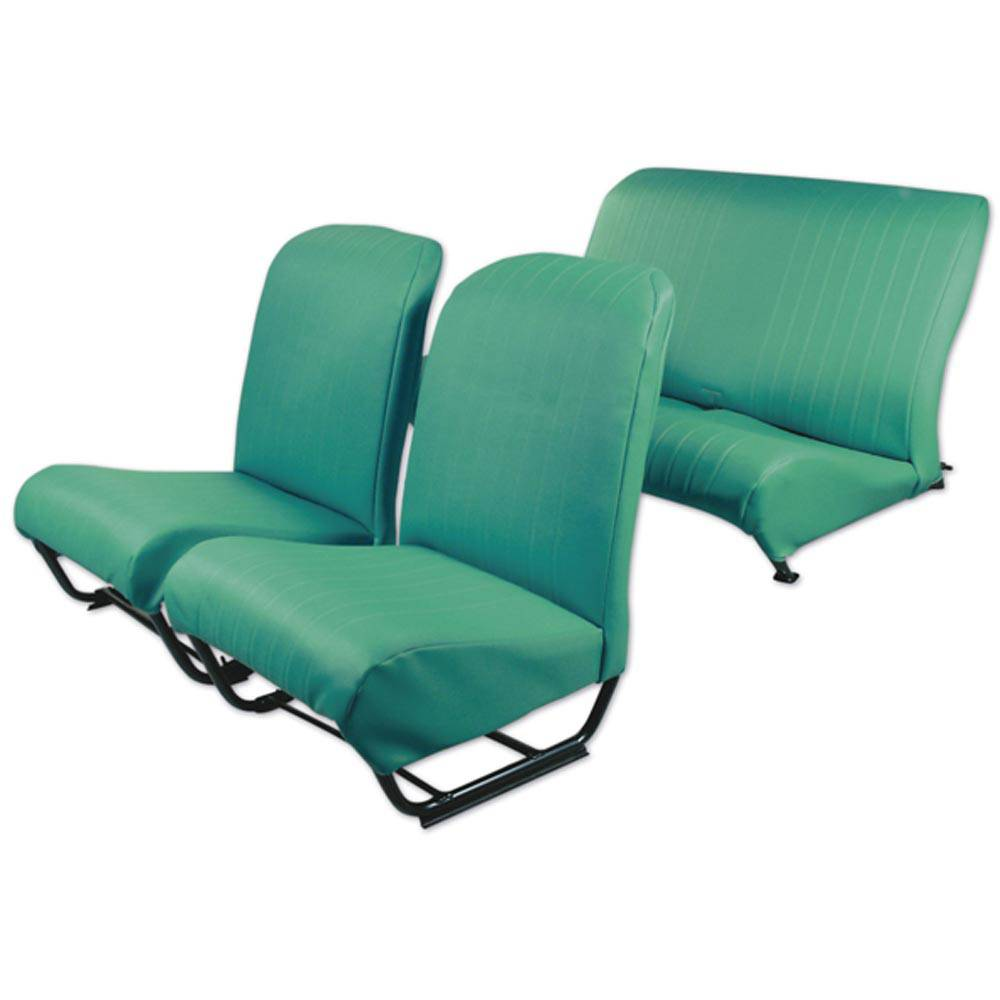 2CV/DYANE UPHOLSTERY SET WITH SIDES – LAGOON GREEN