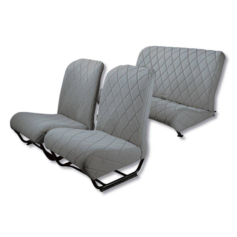 2CV/DYANE UPHOLSTERY SET WITH SIDES – GREY TISSUE
