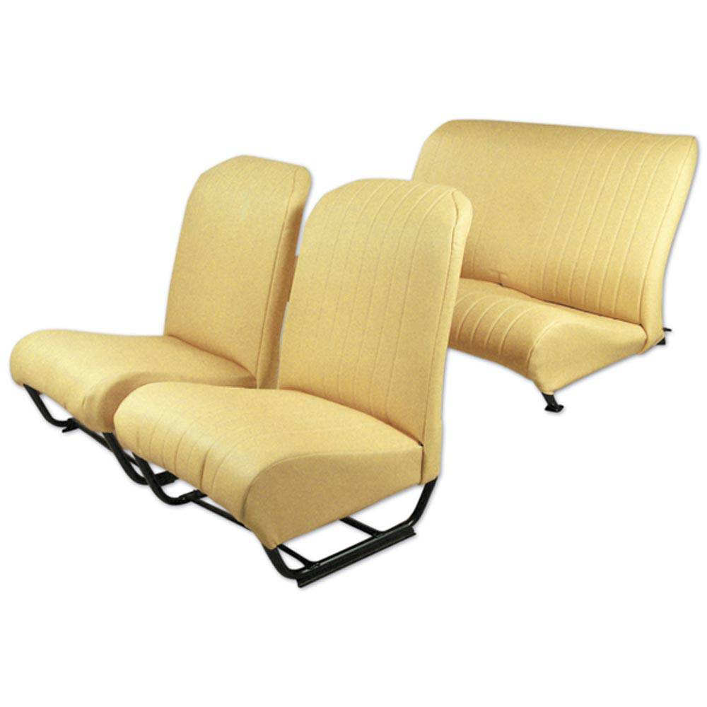 2CV/DYANE UPHOLSTERY SET WITH SIDES – YELLOW SKAI