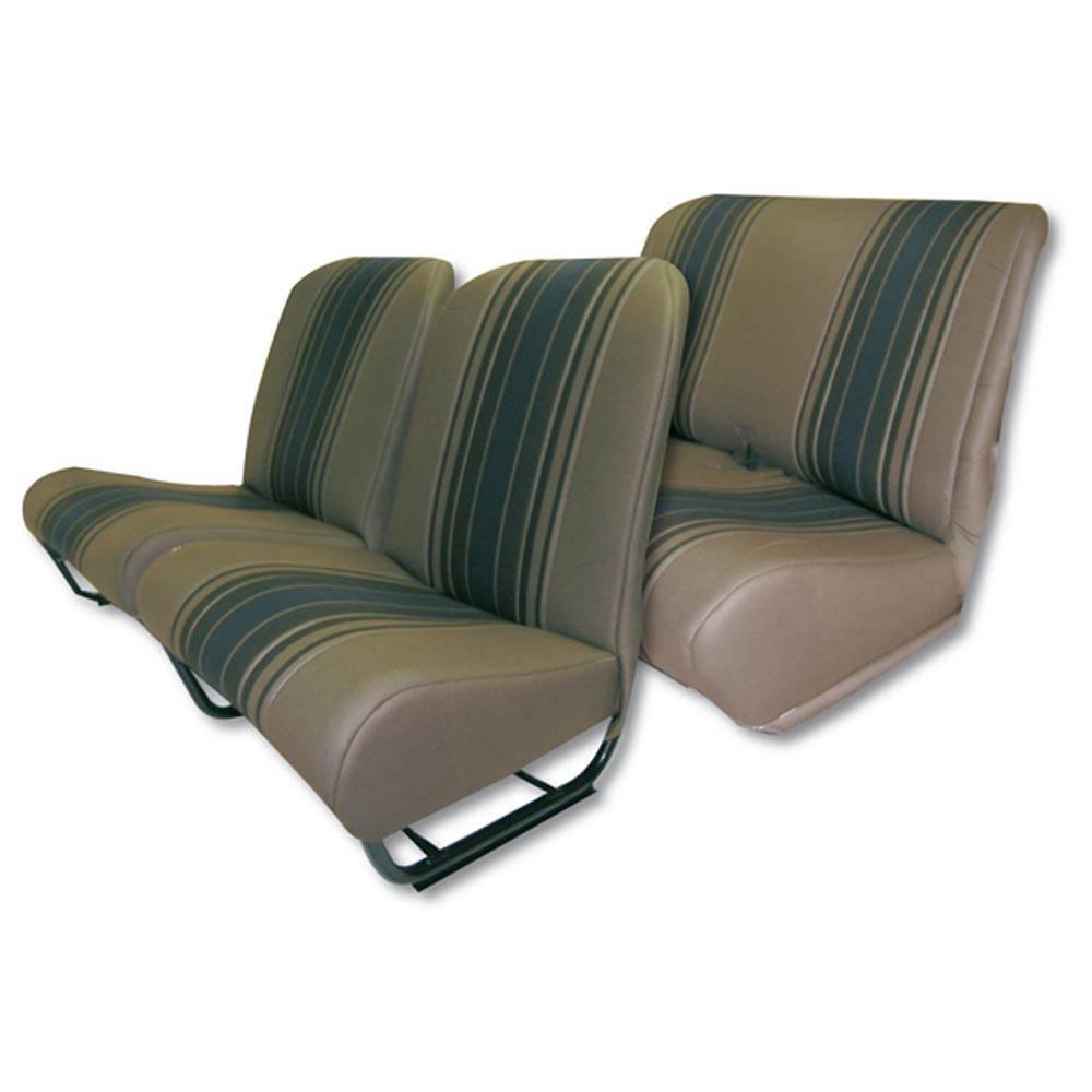 Lot Garnitures siège 2CV/DYANE avec rabats CIC - rayé marron