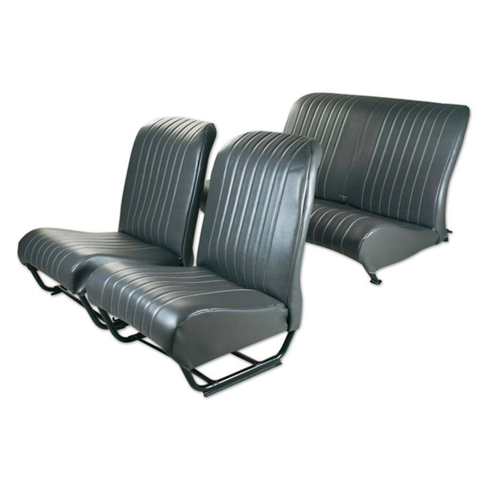 SQUARED INNER CORNER UPHOLSTERY SET WITH SIDES – ANTHRACITE GREY SKAI