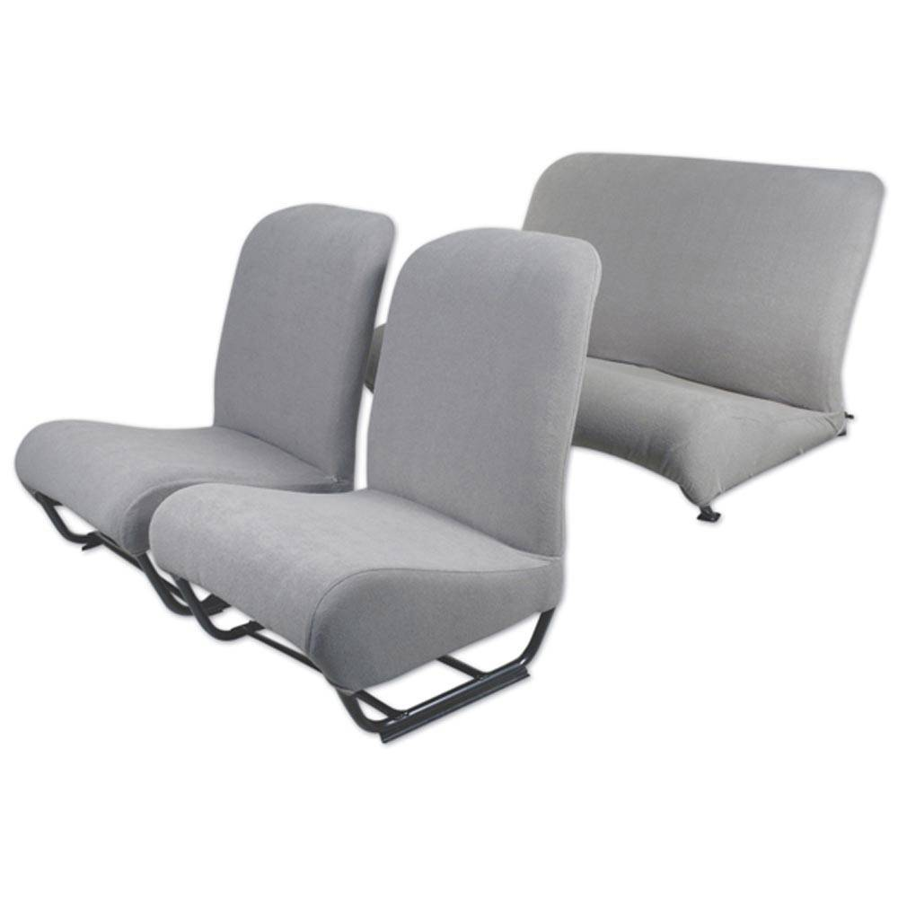 LOT HOUSSES EPONGE SIEGES 2CV/DYANE - GRIS